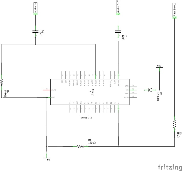 Teensy FT817 interface Schematic