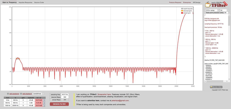 Online Tool filter graph